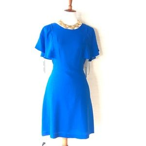 NWT Electric Blue Dress. Stunning color. Brand new